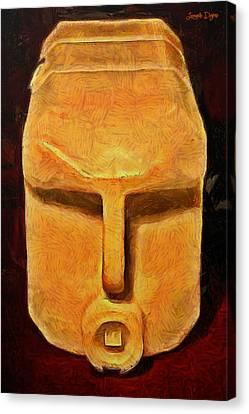 Plastic Bottle - Da Canvas Print by Leonardo Digenio