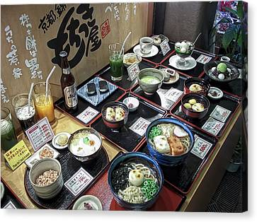 Plastic Food Display - Kyoto Japan Canvas Print by Daniel Hagerman