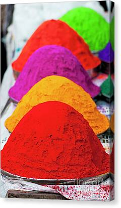 Plates Of Coloured Powder Canvas Print
