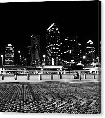 Platt Street Tampa Canvas Print by David Lee Thompson