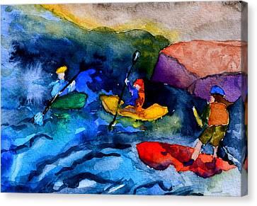 Platte River Paddling Canvas Print