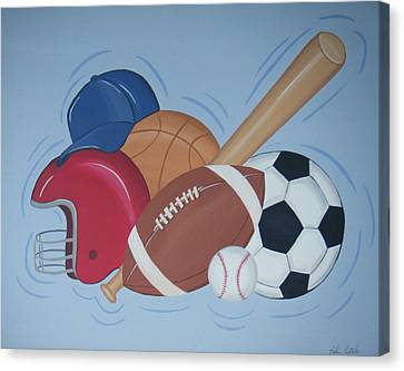 Play Ball Canvas Print by Valerie Carpenter