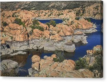 Watson Lake Canvas Print - Play - Doh by Donna Kennedy