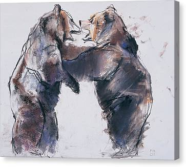 Creature Canvas Print - Play Fight by Mark Adlington