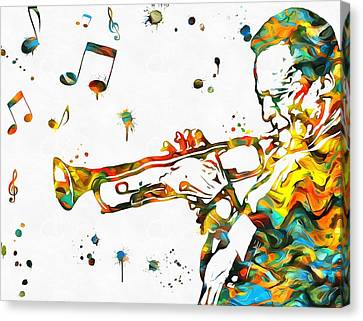 Play It Miles Canvas Print by Dan Sproul