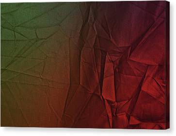 Burnt Umber Canvas Print - Play Of Hues. Dark Olive Green And Firebrick Red. Textured Abstract by Jenny Rainbow