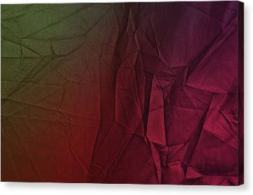 Burnt Umber Canvas Print - Play Of Hues. Dark Olive Green And Violet Red. Textured Abstract by Jenny Rainbow