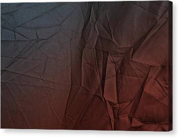 Burnt Umber Canvas Print - Play Of Hues. Sapphire Blue And Burnt Umber. Textured Abstract by Jenny Rainbow