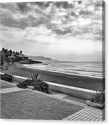 Playa Burriana, Nerja Canvas Print by John Edwards