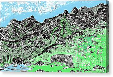 Indian Ink Canvas Print - Playa De Tamadiste Tenerife by Chani Demuijlder
