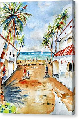 Playa Del Carmen Canvas Print by Carlin Blahnik
