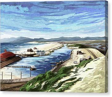 Playa Del Rey Lagoon 1904 Canvas Print