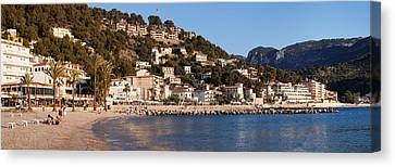 Playa Des Traves Beach At Passeig Es Canvas Print by Panoramic Images