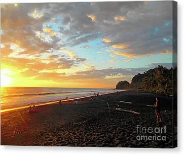 Playa Hermosa Puntarenas Costa Rica - Sunset A One Canvas Print by Felipe Adan Lerma