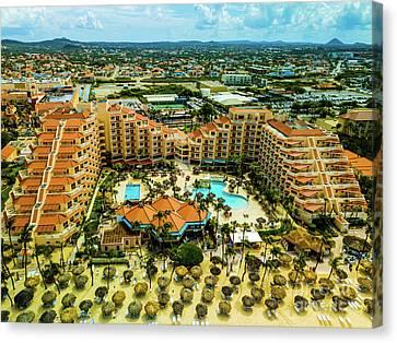 Playa Linda In Aruba Canvas Print