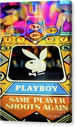 Playboy Bunny Canvas Print - Playboy Pinball by Colleen Kammerer