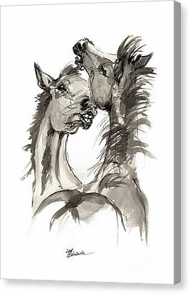 Playful Foals  Canvas Print by Angel Tarantella