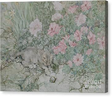 Playful Kitten Canvas Print by Kim Tran