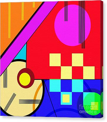 Canvas Print featuring the digital art Playful by Silvia Ganora
