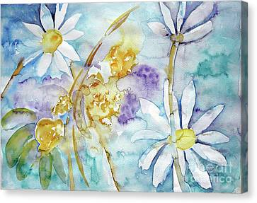 Canvas Print featuring the painting Playfulness by Jasna Dragun