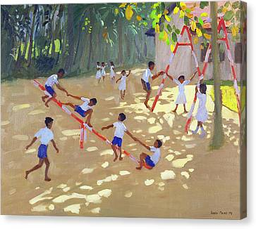 Playground Sri Lanka Canvas Print by Andrew Macara