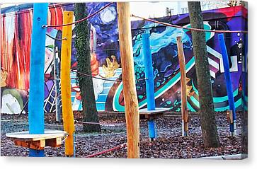 Epic Canvas Print - Playground With Hq Graffiti Art by Marco De Mooy