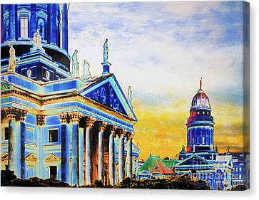 Playhouse And French Dome Canvas Print