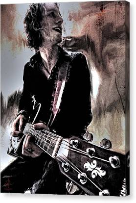 Playin' Grunge Canvas Print by Pennie  McCracken