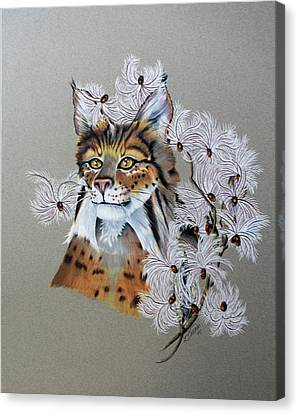 Playing In Milkweed Canvas Print