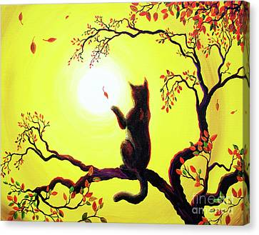 Playing On A Golden Afternoon Canvas Print