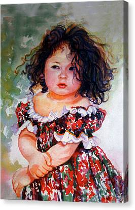 Playing To Be A Model Canvas Print by Estela Robles