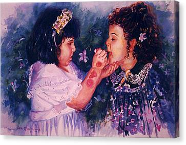 Playing To Be A Woman Canvas Print by Estela Robles