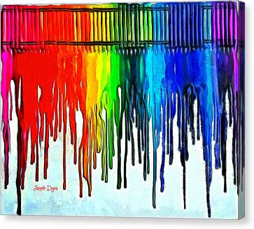 Playing With Colors - Da Canvas Print by Leonardo Digenio
