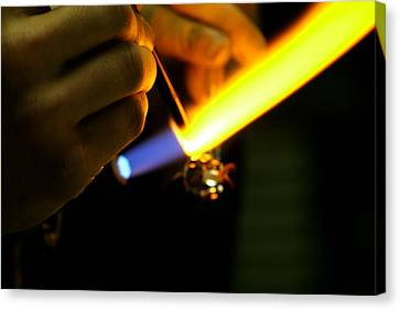 Lampworking Canvas Print - Playing With Fire by Amelia Painter
