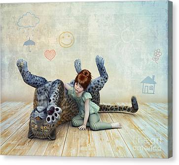 Playmate Canvas Print by Jutta Maria Pusl