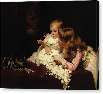 Playmates Canvas Print by Arthur John Elsley