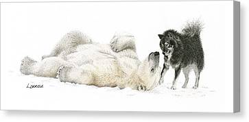 Surprise Canvas Print - Playtime by Lorrisa Dussault
