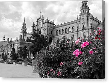 Historical Canvas Print - Plaza De Espana - Sevilla - Spain by Andrea Mazzocchetti