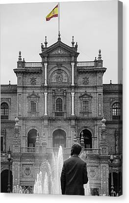 Andalucia Canvas Print - Plaza De Espana - Details From Seville  by Andrea Mazzocchetti