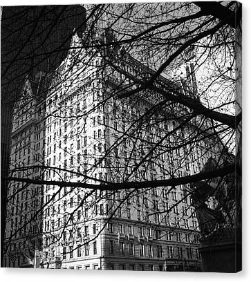 Canvas Print featuring the photograph Plaza Hotel by Dave Beckerman