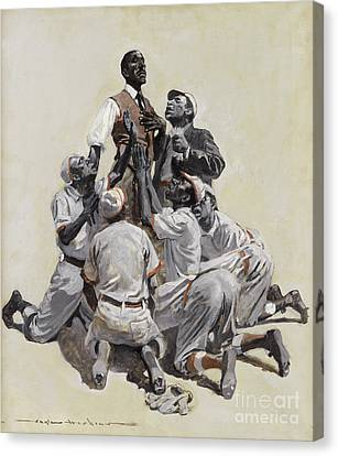 Pleading With The Umpire Canvas Print by Peter Gumaer Ogden Collection