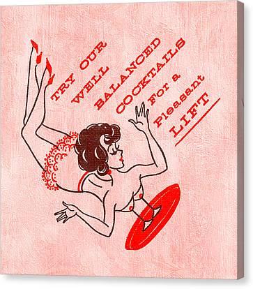 Booze Canvas Print - Pleasant Lift by Tiki Bender