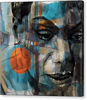 Canvas Print featuring the mixed media Please Don't Let Me Be Misunderstood by Paul Lovering