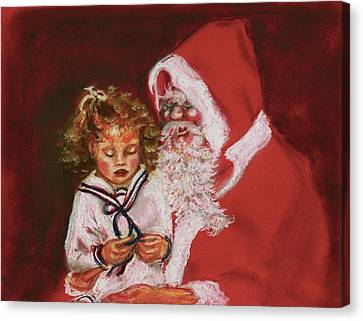 Please Mr Santa Canvas Print by Yvonne Ayoub