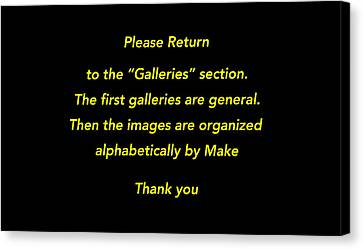 Please Return To Galleries Option Canvas Print by Jill Reger