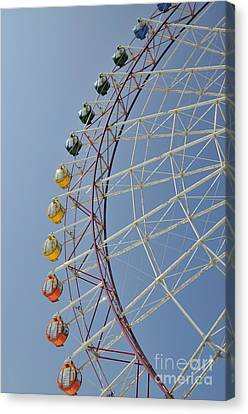 Pleasure Town Ferris Wheel Canvas Print by Andy Smy