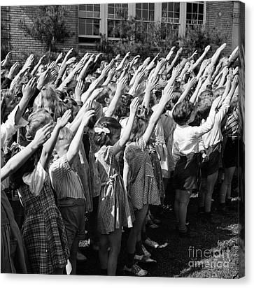 Pledge Of Allegiance, 1942 Canvas Print