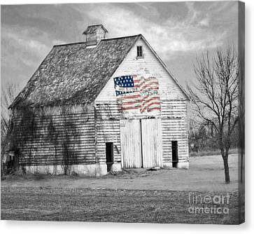 Pledge Of Allegiance Crib Canvas Print