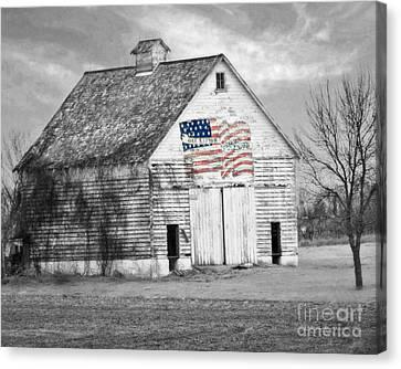 Pledge Of Allegiance Crib Canvas Print by Kathy M Krause