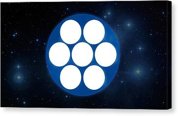 Pleiades 'phone Number' Canvas Print by Michal Sornat